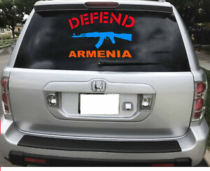 Defend  Armenia beautiful Armenian flag decal different sizes