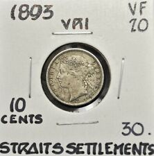 1893 Straits Settlements 10 cents