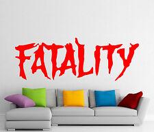 Fatality Wall Decal Mortal Kombat Video Game Vinyl Sticker Decor Mural (191z)