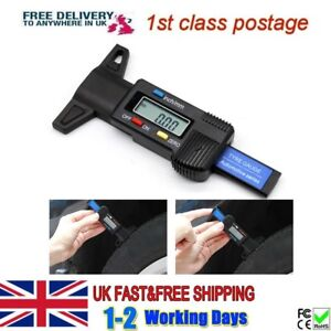 Car Digital Tyre Tread Depth LCD Van/Motorbike Gauge Check Tester Meter Measure