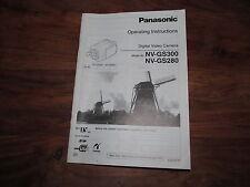 Panasonic gs280 / gs300 rare original uk manuel instructions livre