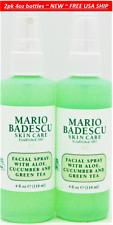 2pk Mario Badescu Facial Spray With Aloe, Cucumber & Green Tea 4oz each pump