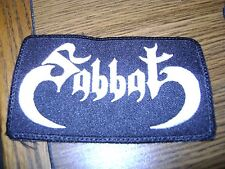 SABBAT,SEW ON WHITE EMBROIDERED PATCH