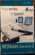 NEW I.R.I.S. IRISnotes Executive 2 Digital Pen 457489 SEALED in Retail Box