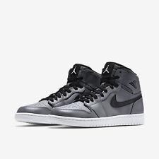 New Nike Air Jordan 1 Retro High Rare Air Cool Grey/Black 332550-014 Men SZ 9.5