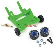 Traxxas Green Wheelie Bar/Blue Alum Wheels & Rubber Tires: Stampede VXL /Bandit