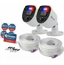 Swann 1080SL HD Police Style Flashing Lights Spotlights Enforcer Camera CCTV x2