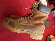 Vtg 80s timberland boots 10.5 W brown camel hiking work mountain bike fashion