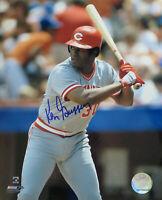 Ken Griffey Signed Cincinnati Reds Batting 8x10 Photo - SCHWARTZ COA
