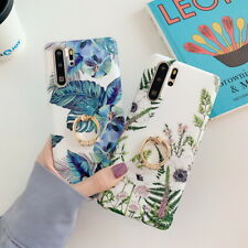 For Samsung Galaxy S20 Note 10 S10 S9 S8 Flower Pattern IMD Soft Ring Case Cover