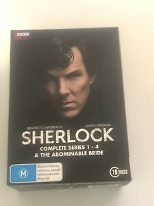 Sherlock Complete Series 1 Season One 4 the Abominable Bride Box Set DVD