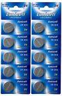 ☀️☀️☀️☀️☀️ 10 x CR2032 3V 210 mAh Lithium Batterie auf 2 Cards a 5 Stück Euni