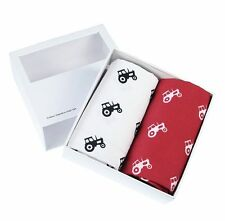 Red & White Tractor Handkerchief Gift Set (66-HR-15)