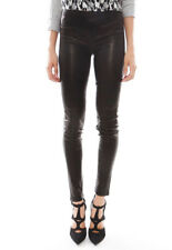 Womens 100%Genuine Lambskin Lycra coated Stretch able Leather pant Legging Style