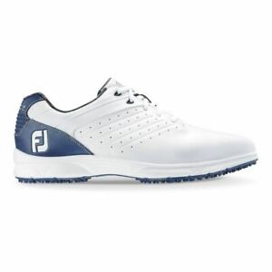 NEW! FootJoy [8] Medium FJ ARC SL Men Golf Shoes 59701-White/Blue