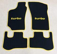 Autoteppich Fußmatten für Fiat Coupe 16V + 20V + Turbo 1993-00 schwarz gelb Neu