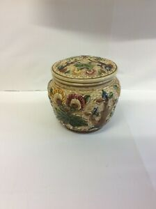 HJ Wood Indian Tree Jar and Cover