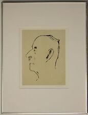 Listed Italian Artist Marino Marini Lithograph Print