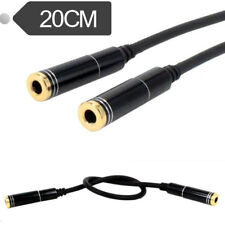 """4Pole 3 Ring 1/8"""" 3.5mm Female to Female Stereo Convertor Adapter Aux Cable Cord"""