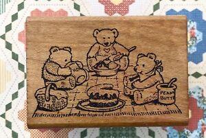 Vintage Teddy Bear Picnic All Night Media yogi pooh honey three country cake htf