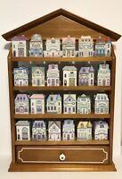 1989 The Lenox Spice Village Houses Fine Porcelain Complete Set of 24 Spice Jars