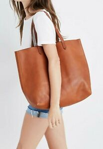 Madewell Zip Top Transport Tote - English Saddle
