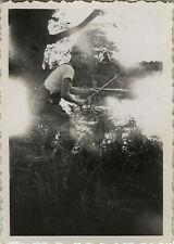 PHOTO ANCIENNE - VINTAGE SNAPSHOT - PHOTO RATÉE ERREUR PÊCHEUR - ERROR FISHERMAN