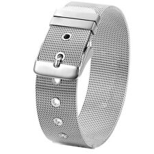 Men Stainless Steel Bracelet Cuff Silver Tone Mesh Belt Buckle Bangle Adjustable