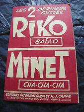 Partition Riko Baiao Minet Cha Cha Cha H J Cappé