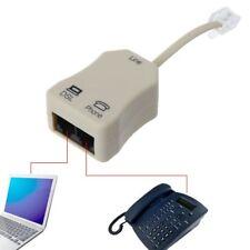 Portable ADSL Modem Telephone Phone Fax In-Line Splitter Filter Network 1PC