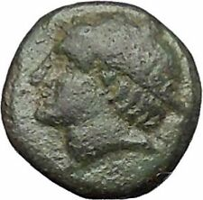 Ainos in  Thrace 400BC Rare Ancient Greek Coin Hermes Mercury Caduceus  i49516