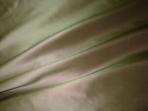 9 YDS FABRICUT 100% SILK~TAUPE DRAPERY UPHOLSTERY FABRIC FOR LESS