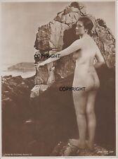 vintage studio photo VAN JAN AKTFOTO 30s  GERMAN NATURIST NUDIST FKK GD FORMAT