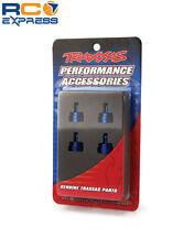 Traxxas Shock Caps Aluminum Blue Anodized Slash Rustler Stampede Tmaxx TRA3767A