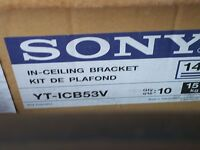 Sony YT-ICB53V Flush Mount Kit for Sony Dome Video Camera BRAND NEW BOX OF 10