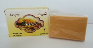 Sulfur Sulphur Soap Antibacterial Acne Blemishes Blackheads Oily Skin Face Body