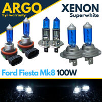 Fits Ford Fiesta Mk8 Headlight Hid Xenon White 2017-On 100w Fog Light Bulbs 12v