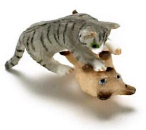 12 miniature Pet CASA Delle Bambole Gatto Nero Bianco Calzini Rising up dopo una cosa 1