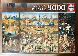 NEW 9000 Piece Jigsaw Puzzle Educa Garden of Earthly Delights, Hieronymus Bosch