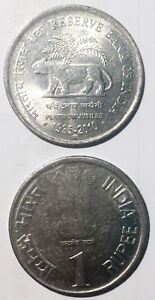 India 1 rupee 2010  Reserve Bank Of India Platinum Jubilee 1935-2010 25mm steel