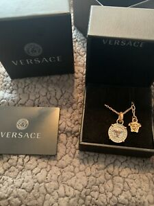 Authentic Versace Necklace Chain And Pendant
