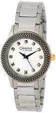 Caravelle New York Women's 45L133 Quartz Gold-Tone Bezel Bracelet 31mm Watch