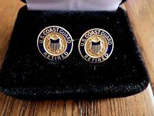 Coast Guard Retired Cufflinks With Jewelry Box 1 Set Cuff Links Boxed