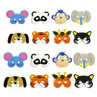 12pcs Childrens Kids Foam Jungle-Animal Masks Dressing up Loot Party Bag fillers