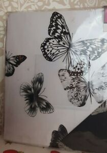 Isla grey and white butterfly design double duvet set