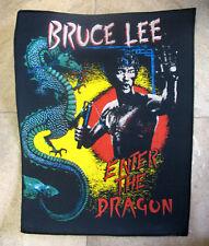 Bruce Lee Aufnäher Jumbo Patch Kung FU Rückenaufnäher Backpatch xxl