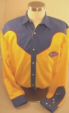 Dickies Rodeo Western Dress Pearl Snap Shirt L Cowboy Rockabilly Embroidered M