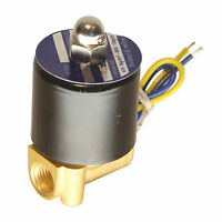 """HFS(R) 12V Dc 1/4"""" Electric Solenoid Valve Water Air Gas, Fuels N/C - Brass"""