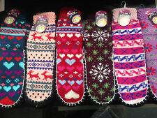 6 PAIRS MIX COLOUR HOME SLIPPER SOCKS ANTI-SLIP FOOT LADIES/WOMENS SIZE: 2-8