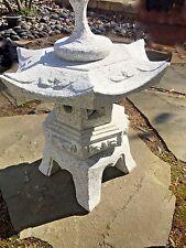 19' Rokkaku Japanese  Carved Granite Garden Lantern Stone pagoda